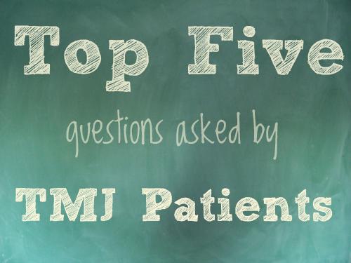 TMJ Patient Questions