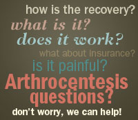 Questions about temporomandibular joint arthrocentesis