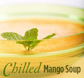 Liquid, No-Chew Mango Soup