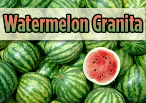 TMJ Friendly Dessert Watermelon Granita